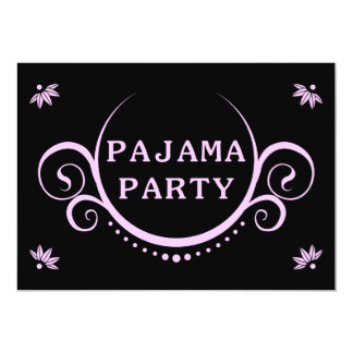 elegante Pyjama-Party Einladung