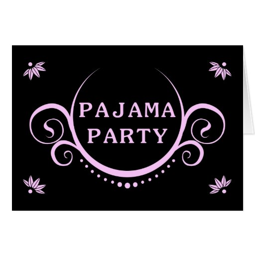 elegante pyjama party einladung karten zazzle. Black Bedroom Furniture Sets. Home Design Ideas
