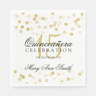 Elegante Quinceanera Servietten