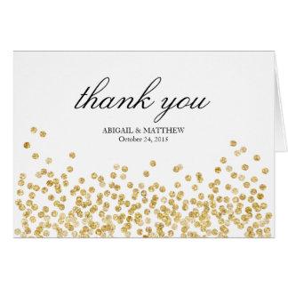 Elegante Rahmen-Hochzeit danken Ihnen Mitteilungskarte