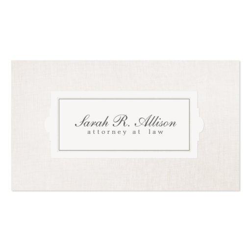 Elegante Rechtsanwalts-Plaketten-Art-beige Visitenkarten Vorlage