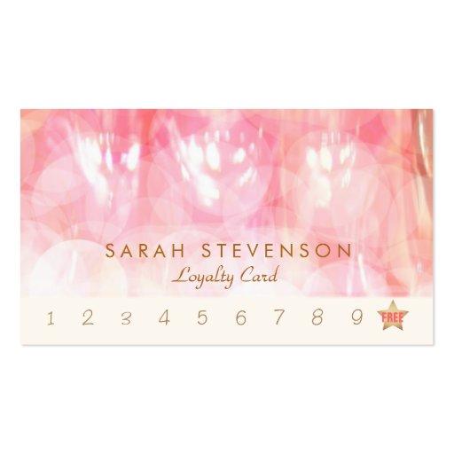Elegante rosa Bokeh Visitenkarten Vorlage