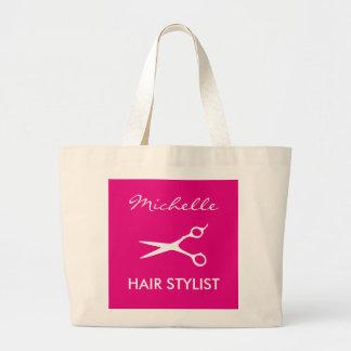 Elegante rosa Friseur-Taschentasche für Jumbo Stoffbeutel
