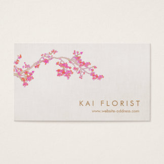 Elegante rosa Kirschblüten-BlumenBlume Visitenkarte