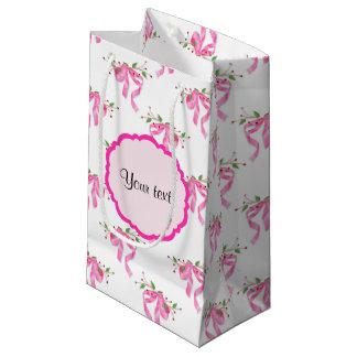 Elegante rosa romantische Bögen Kleine Geschenktüte