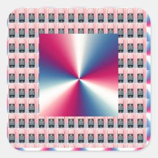 Elegante ROSA Schein-Diamant-Grafiken Quadratischer Aufkleber