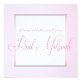 Elegante rosa Schläger Mitzvah Einladungen