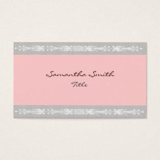 Elegante rosa und graue Visitenkarte