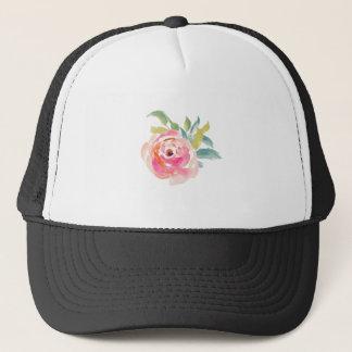 Elegante rosa Watercolor-Rosen mit Blumen Truckerkappe