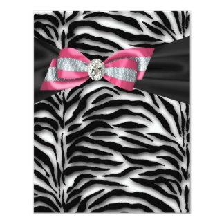 Elegante rosa Zebra-Party Einladungen