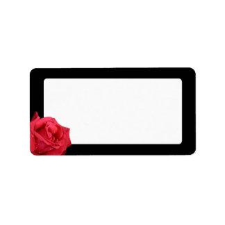 Elegante Rosen-Adressen-Etiketten Adressaufkleber