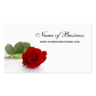 Elegante Rosen-berufliches rotes und weißes Blumen Visitenkarte