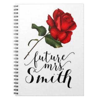 Elegante Rosen-elegante bezaubernde zukünftige mit Spiral Notizblock