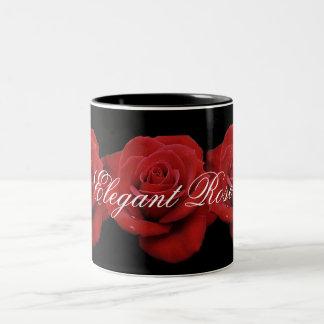 Elegante Rosen-Kaffee-Tasse Zweifarbige Tasse