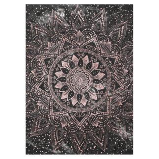 Elegante Rosengoldmandalapunkte und Marmorgrafik Tischdecke