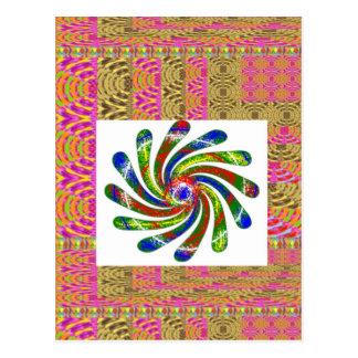 ELEGANTE Rotations-Radkunst Postkarte