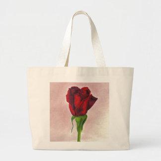 Elegante Rote Rose CricketDiane Jumbo Stoffbeutel