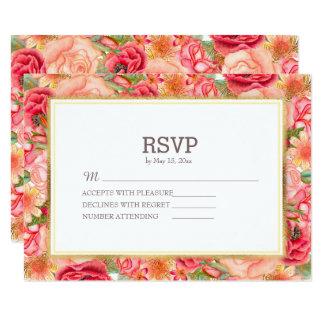 Elegante rote und rosa Rosen, die UAWG Wedding Karte