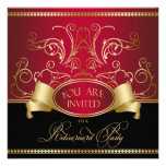 Elegante Ruhestands-Party Einladungs-rote Ankündigungskarten