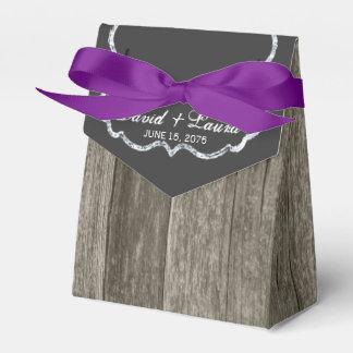 Elegante rustikale hölzerne Tafel-Hochzeit Geschenkkartons