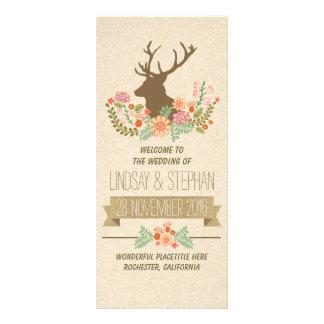 Elegante rustikale Rotwildhochzeitsprogramme Kartendruck