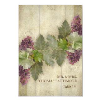 Elegante rustikale Weinberg-Weinkellerei-Hochzeit 8,9 X 12,7 Cm Einladungskarte