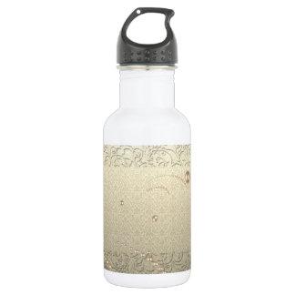 Elegante schicke Damast-Spitze-Perlen Trinkflasche