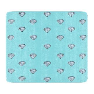 Elegante schicke glänzende Diamanten Girly Schneidebrett