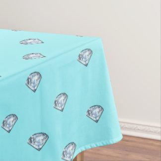 Elegante schicke glänzende Diamanten Girly Tischdecke