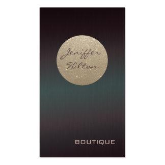 Elegante schicke zeitgenössische glittery visitenkarten