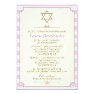 Elegante Schläger Mitzvah Einladung