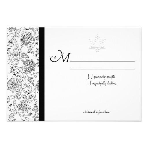 Elegante Schläger Mitzvah UAWG Karten Personalisierte Einladungskarten