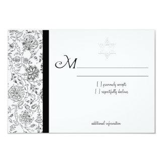 Elegante Schläger Mitzvah UAWG Karten 8,9 X 12,7 Cm Einladungskarte