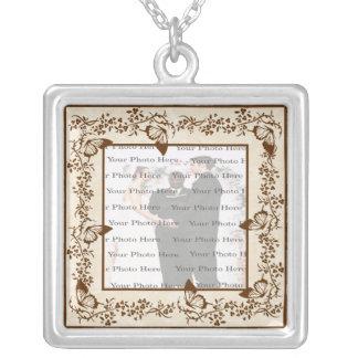 Elegante Schmetterlings-Hochzeits-Quadrat-Silber-H Halsketten