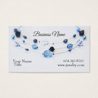 Elegante Schmuck-Designer-Blau-Perlen Visitenkarte