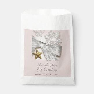 Elegante Schneeflocke-Winter-Gastgeschenk Geschenktütchen