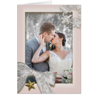 Elegante Schneeflocke-Winter-Hochzeit danken Ihnen Karte