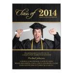 Elegante Schwarz-u. Goldklasse von Abschluss 2014 Individuelle Ankündigung