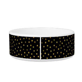 Elegante Schwarz-und Goldfolieconfetti-Punkte Napf