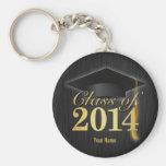 Elegante Schwarz-und Goldklasse von Abschluss 2014 Schlüsselband
