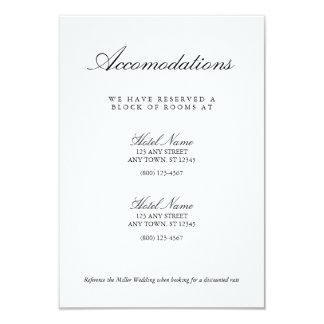 Elegante Schwarz-weiße Hochzeits-Anpassungs-Karte Karte
