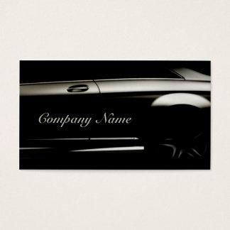 Elegante schwarze AutomobilVisitenkarte Visitenkarte