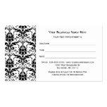 Elegante schwarze Damast-Muster-Salon-Verabredung Visitenkarten Vorlagen