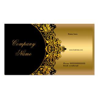 Elegante schwarze GoldButike Visitenkarten