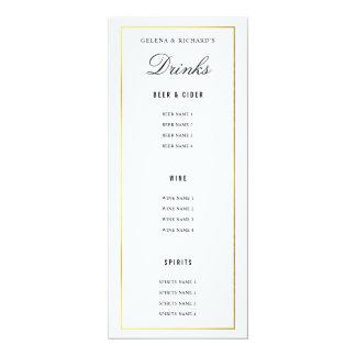 Elegante schwarze Goldhochzeits-Nahrung und 10,2 X 23,5 Cm Einladungskarte