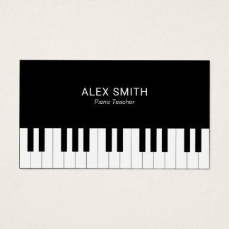 Elegante schwarze Klavier-Lehrer-Visitenkarte Visitenkarte
