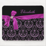 Elegante schwarze lila Damast-Diamant-Bogen-Gewohn