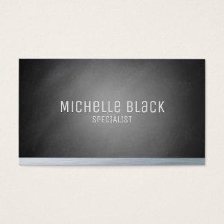 Elegante schwarze Ombre Tafel-Visitenkarten Visitenkarte