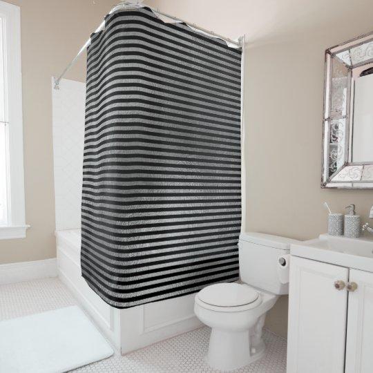 Elegante schwarze silbernes Grau-minimale Duschvorhang