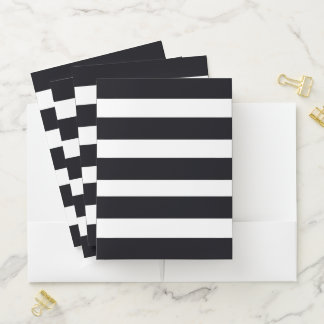 Elegante schwarze u. weiße gestreifte mappe